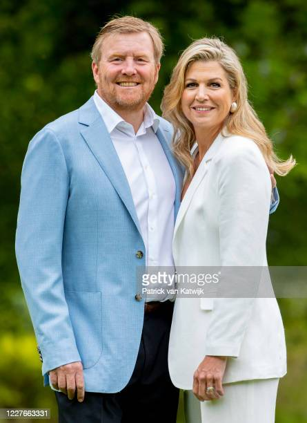King WillemAlexander of The Netherlands and Queen Maxima of The Netherlands during the annual summer photocall at their residence Palace Huis ten...