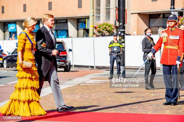 King WillemAlexander of The Netherlands and Queen Maxima of The Netherlands attend the opening of the parliamentary year Prinsjesdag in the Grote...