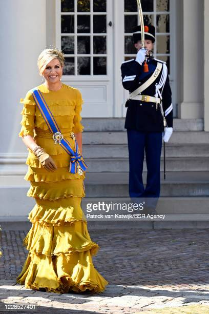 King Willem-Alexander of The Netherlands and Queen Maxima of The Netherlands attend the opening of the parliamentary year Prinsjesdag in the Grote...