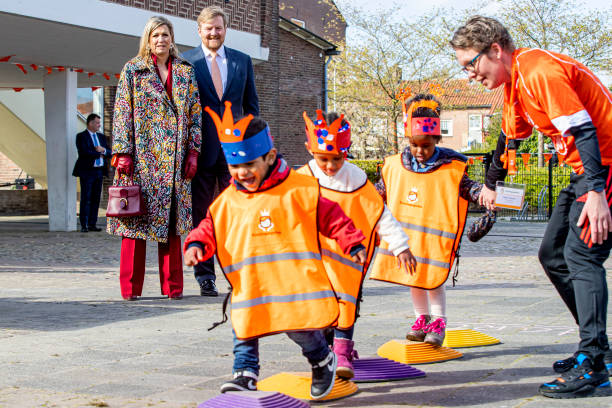 NLD: King Willem-Alexander Of The Netherlands And Queen Maxima attend Kingsday Games In Amersfoort