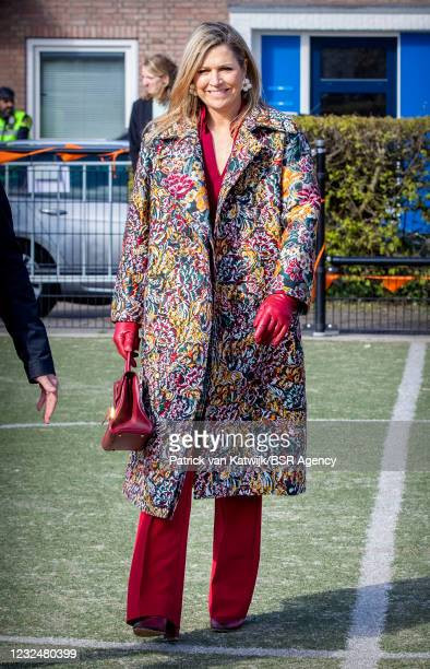 King Willem-Alexander of The Netherlands and Queen Maxima of The Netherlands attend the start Kingsgames at Child Center Vlinderslag on April 23,...
