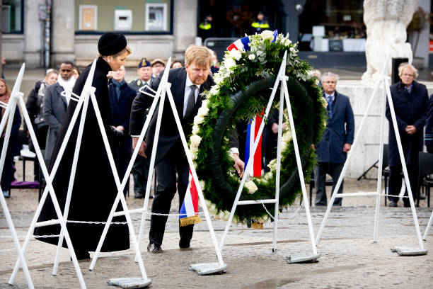 NLD: King Willem-Alexander Of The Netherlands And Queen Maxima Attend The Remembrance Day