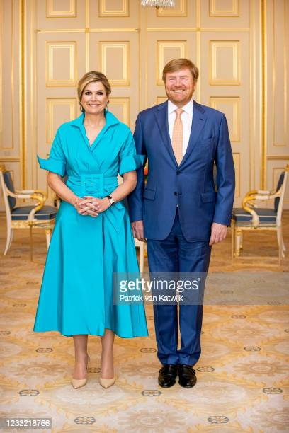 King Willem-Alexander of The Netherlands and Queen Maxima of The Netherlands attend the award ceremony of the Appeltjes van Oranje founded by the...