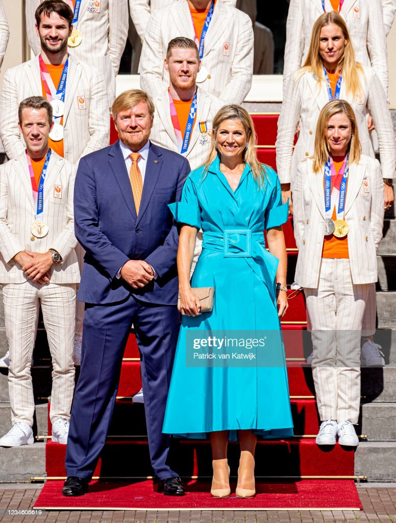 King Willem-Alexander And Queen Maxima Wellcome Dutch Olympics Medal Winners : News Photo