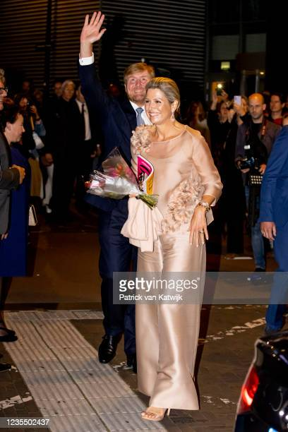 King Willem-Alexander of The Netherlands and Queen Maxima of The Netherlands attend the 100th anniversary Jubilee of the Dutch Bach Society in Tivoli...