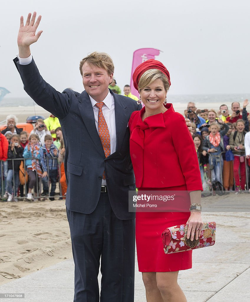 King Willem Alexander & Queen Maxima Of The Netherlands Visit Zeeland And Zuid Holland Provinces : News Photo