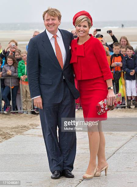King WillemAlexander of The Netherlands and Queen Maxima of The Netherlands visit the watersport location of Brouwersdam on June 21 2013 in Goeree...