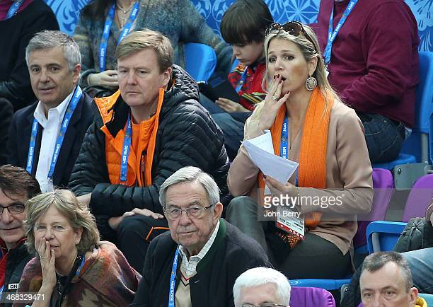 King Willem-Alexander of the Netherlands and Queen Maxima of the Netherlands attend the Short Track events on day 3 of the Sochi 2014 Winter Olympics...