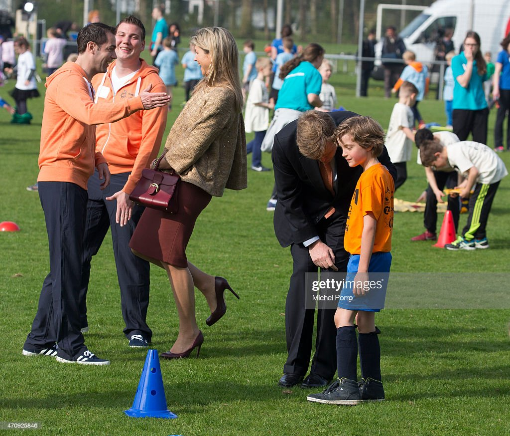 King Willem-Alexander and Queen Maxima Of The Netherlands Attend King's Day Games : News Photo