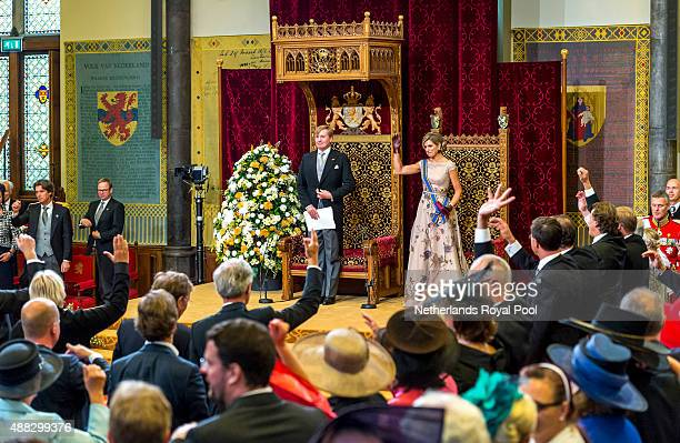 King WillemAlexander of The Netherlands and Queen Maxima of The Netherlands attend the opening of the parliamentary year on September 15 2015 in The...