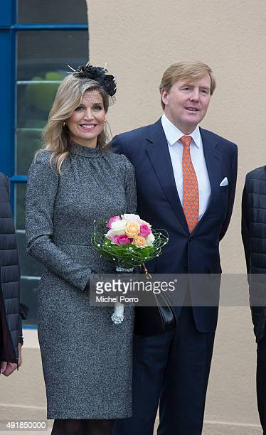 King WillemAlexander of The Netherlands and Queen Maxima of The Netherlands visit the former mining region on October 8 2015 in Kerkrade Netherlands...