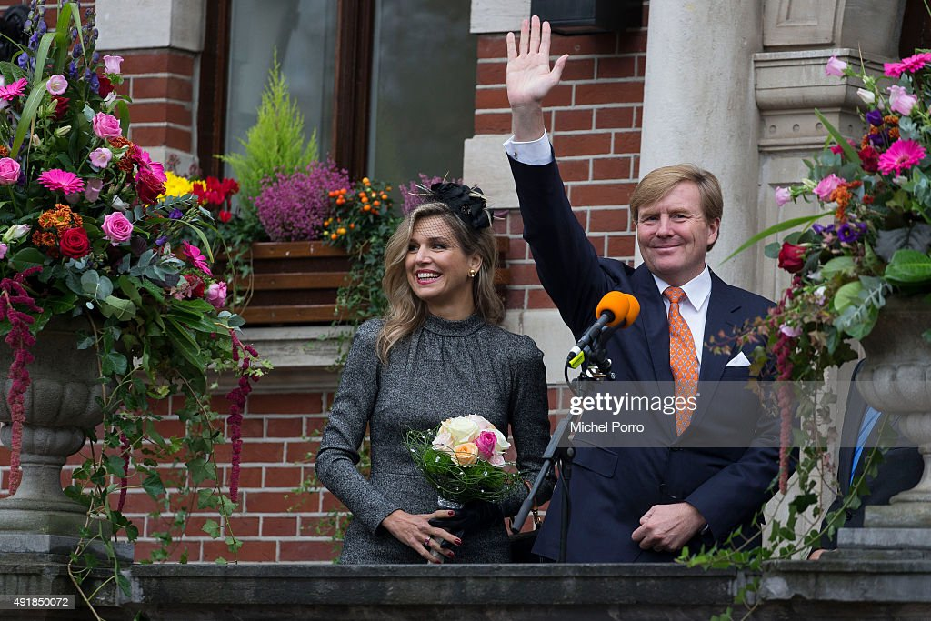 King Willem-Alexander Of The Netherdands And Queen Maxima Of The Netherlands Visit Former Mining Region : News Photo
