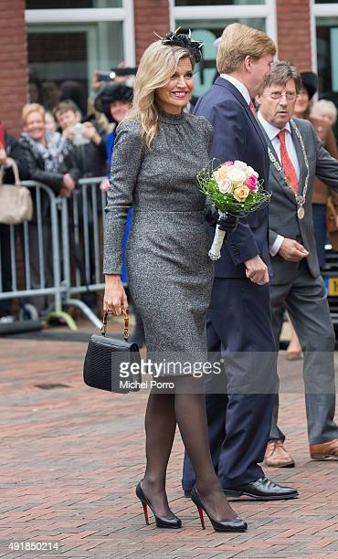 King Willem-Alexander of The Netherlands and Queen Maxima of The Netherlands visit the former mining region on October 8, 2015 in Kerkrade,...