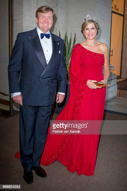 King WillemAlexander of The Netherlands and Queen Maxima of The Netherlands attend the official state banquet presented by President Sergio...