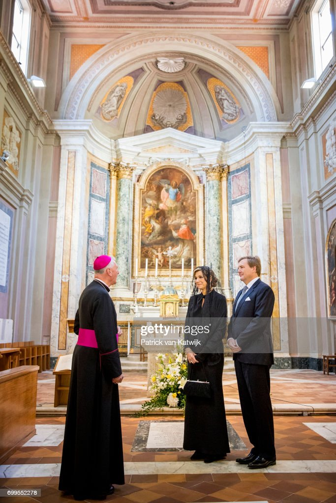 King And Queen Of The Netherlands Visit Italy : Day Three : News Photo