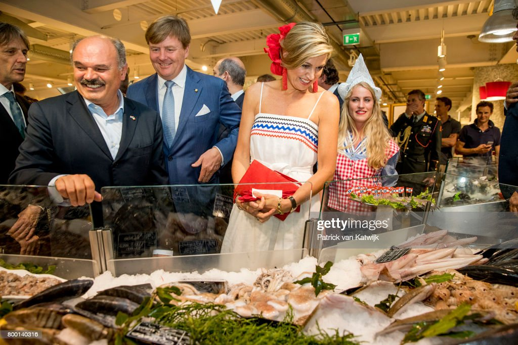 King And Queen Of The Netherlands Visit Italy : Day Three : Nieuwsfoto's