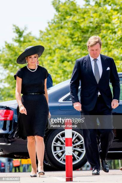King WillemAlexander of The Netherlands and Queen Maxima of The Netherlands attend the MH17 remembrance ceremony and the unveiling of the National...