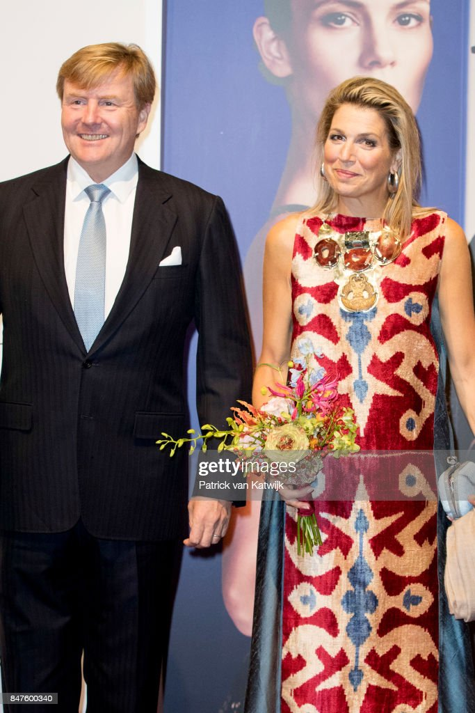 King Willem-Alexander of The Netherlands and Queen Maxima of The Netherlands attend the premiere of the ballet performance Ode to the Master at the National Opera & Ballet on September 15, 2017 in Amsterdam, Netherlands. The National ballet brings a tribute to the permanent choreographer Hans van Manen, on the occasion of his 85th birthday.