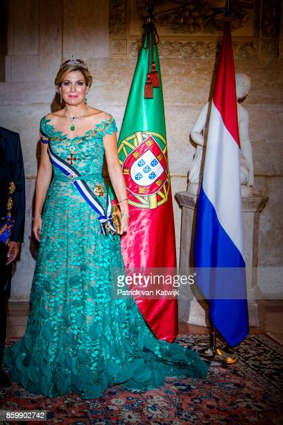 King WillemAlexander of The Netherlands and Queen Maxima of The Netherlands during the official state banquet hosted by President Marcelo Rebelo de...