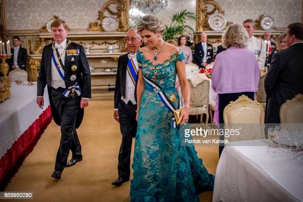 King WillemAlexander of The Netherlands and Queen Maxima of The Netherlands during the official state banquet offered by President Marcelo Rebelo de...