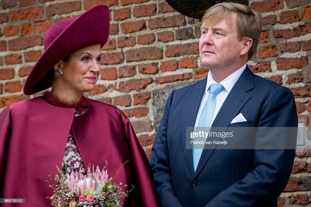 King Willem-Alexander and Queen Maxima of The Netherlands Visit The Eemland : News Photo