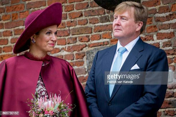 King WillemAlexander of The Netherlands and Queen Maxima of The Netherlands visit the city of Amersfoort during their region visit to Eemnland on...