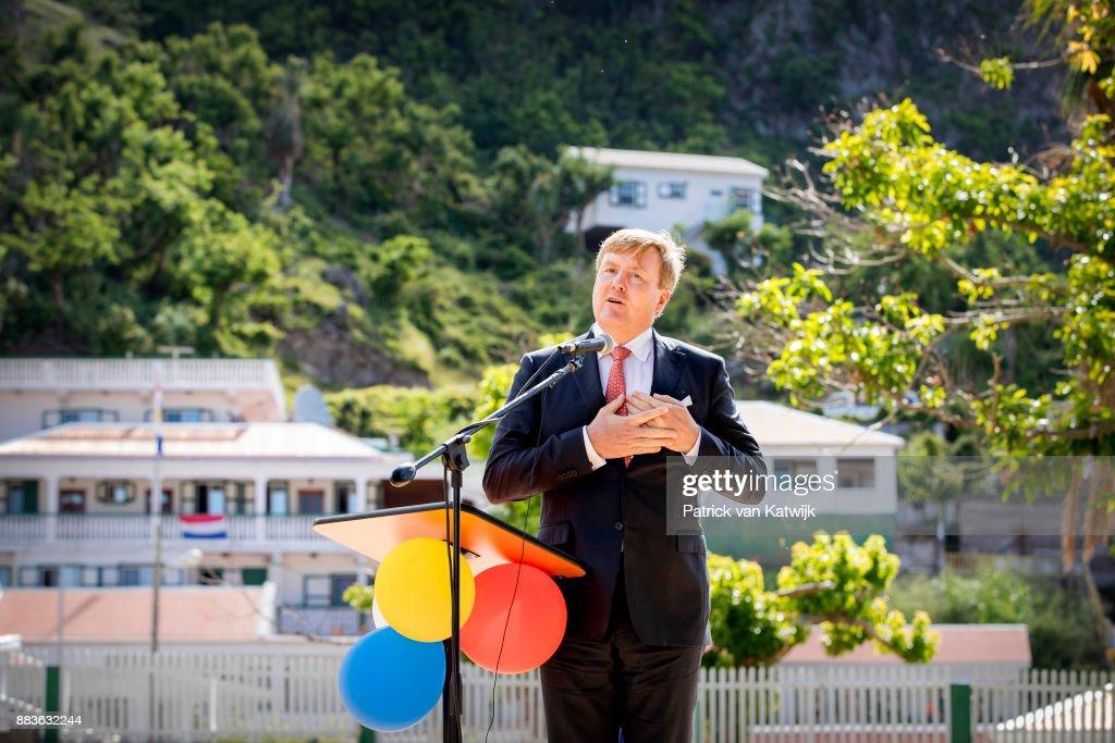 King Willem-Alexander and Queen Maxima visit Saba : Nieuwsfoto's