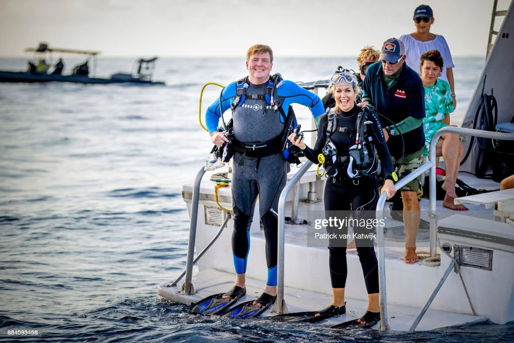 King Willem-Alexander and Queen Maxima visit Saba : Nachrichtenfoto