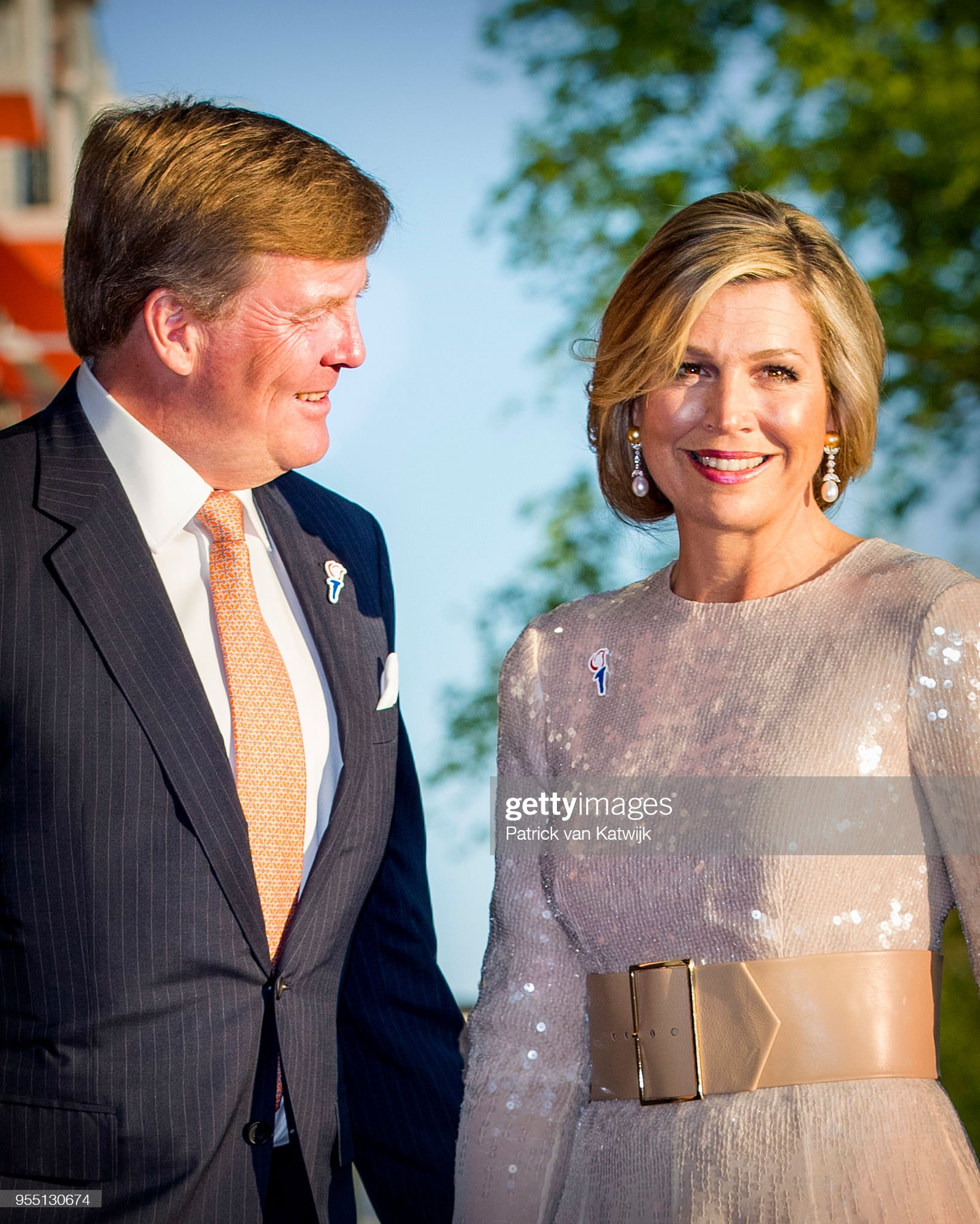 King Willem-Alexander and Queen Maxima at concert of liberation at Amstel river : News Photo