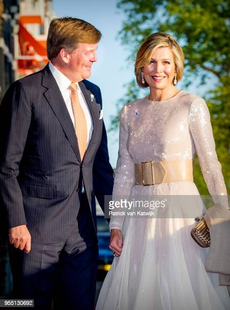 King WillemAlexander of The Netherlands and Queen Maxima of The Netherlands attend the liberation day concert on the Amstel on May 05 2018 in...