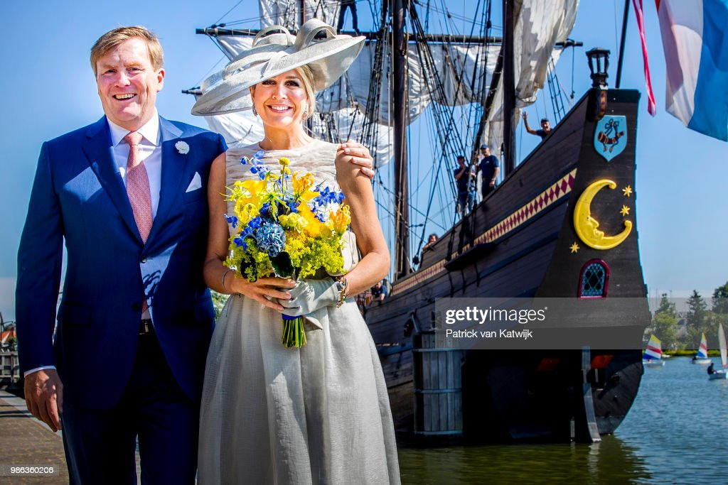 King Willem-Alexander Of The Netherlands and Queen Maxima Of The Netherlands Visit The province Of Friesland