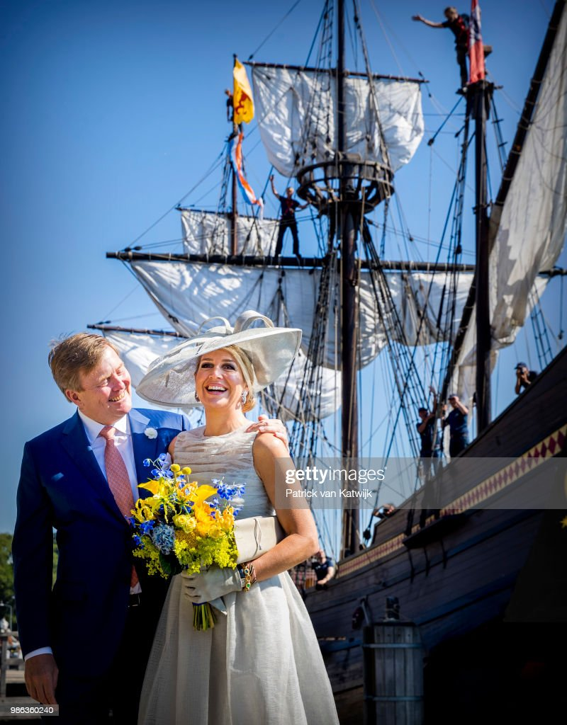 King Willem-Alexander and Queen Maxima region visit to province of Friesland : News Photo