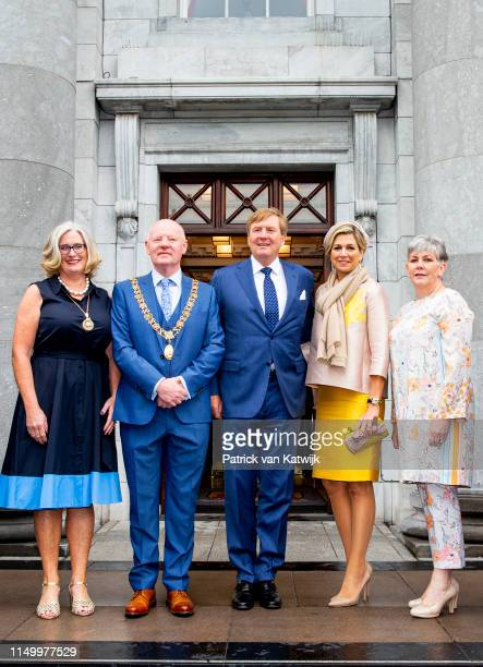 King WillemAlexander of The Netherlands and Queen Maxima of The Netherlands vist the Lord Mayor in Cork on June 14 2019 in DublinIreland
