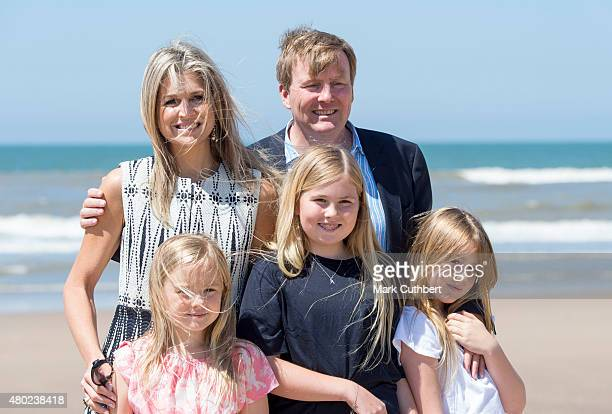 King Willem-Alexander of the Netherlands and Queen Maxima of the Netherlands with Princess Ariane of the Netherlands, Crown Princess Catharina-Amalia...