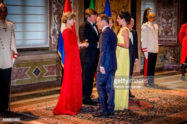 King WillemAlexander of The Netherlands and Queen Maxima of The Netherlands with cousin Prince Jaime and Princess Viktoria de Bourbon de Parme attend...