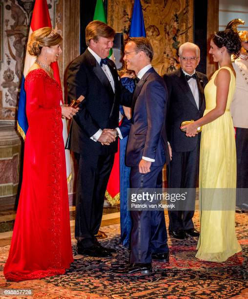 King Willem-Alexander of The Netherlands and Queen Maxima of The Netherlands with cousin Prince Jaime and Princess Viktoria de Bourbon de Parme...
