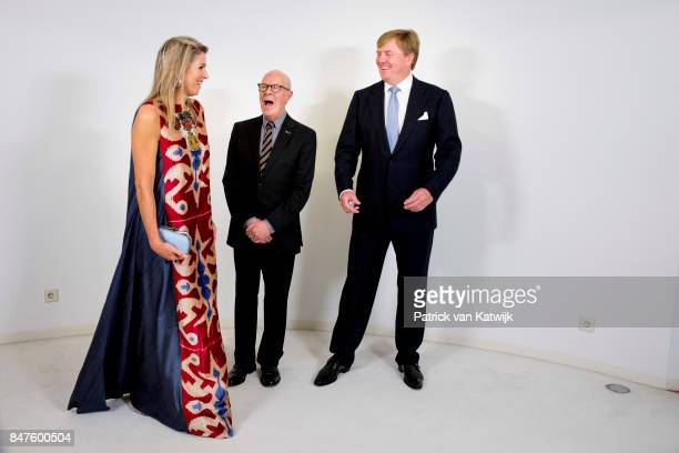 King WillemAlexander of The Netherlands and Queen Maxima of The Netherlands with Hans van Manen attend the premiere of the ballet performance Ode to...