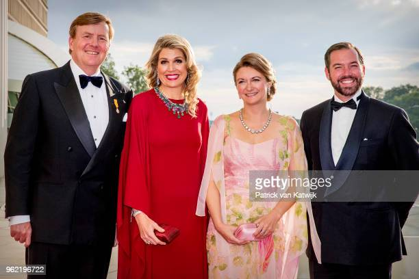 King WillemAlexander of The Netherlands and Queen Maxima of The Netherlands with Hereditary Grand Duke Guillaume and Hereditary Grand Duchess...