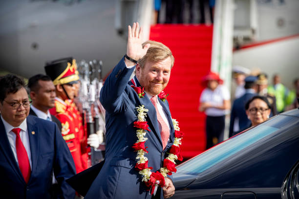 IDN: King Willem-Alexander Of The Netherlands And Queen Maxima Arrive At Jakarta Aiport