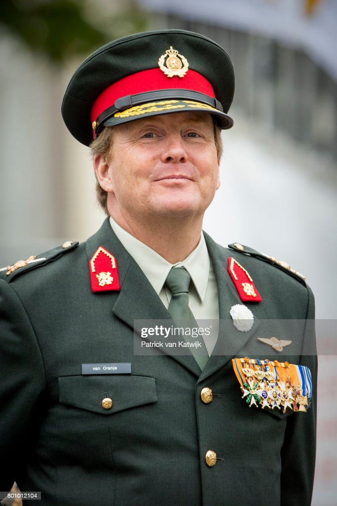 King Willem-Alexander of The Netherlands attends the annual Veterans Day ceremonies at the Binnenhof in The Hague on June 24, 2017 in The Hague, Netherlands.