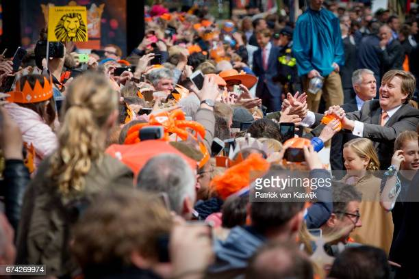 King WillemAlexander of The Netherlands attends the King's 50th birthday during the Kingsday celebrations on April 27 2017 in Tilburg Netherlands