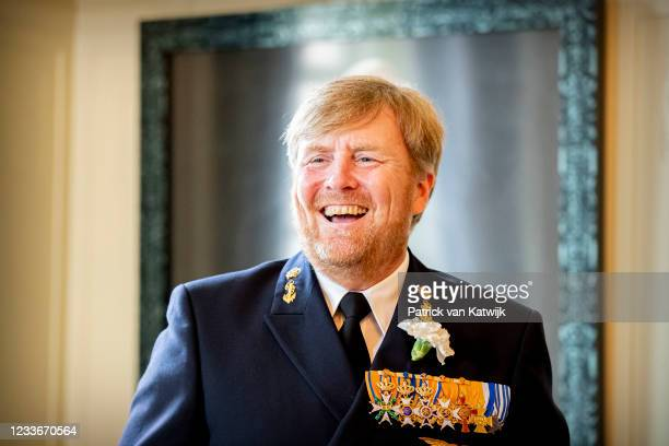 King Willem-Alexander of The Netherlands attends the Veteransday ceremony in the Schouwburg on June 26, 2021 in The Hague, Netherlands.
