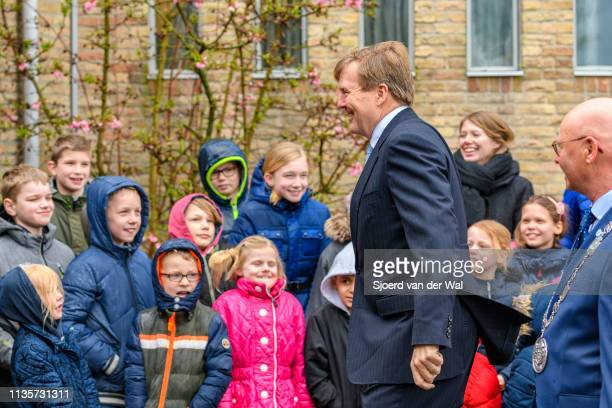 King WillemAlexander of The Netherlands during the official opening of the Reevediep waterway on March 14 2019 in Kampen Netherlands The Reevediep is...