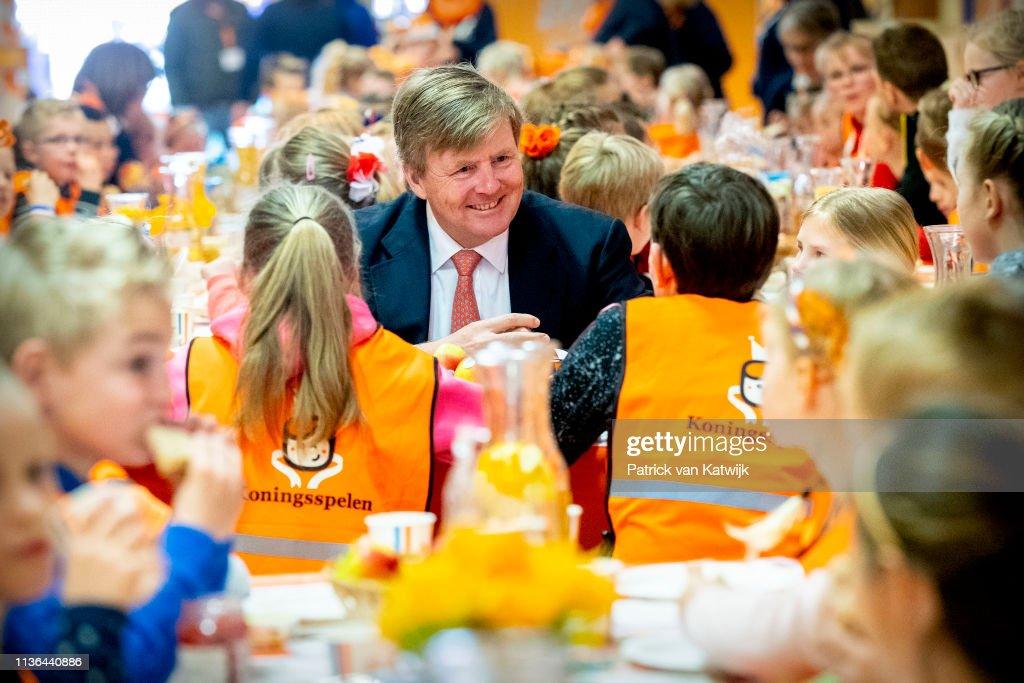 King Willem-Alexander at Kings games 2019 In Lemmer : Nieuwsfoto's