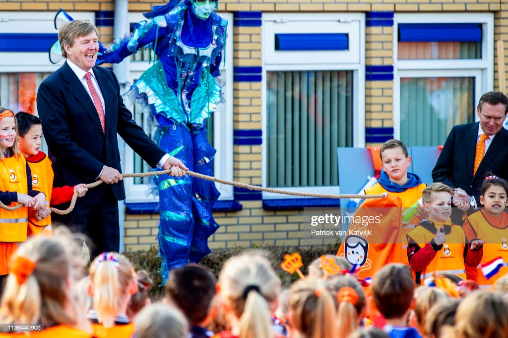 King Willem-Alexander at Kings games 2019 In Lemmer : Nieuwsfoto's