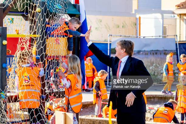 King WillemAlexander of The Netherlands during the opening of the 7th Kings games on April 12 2019 in Lemmer Netherlands