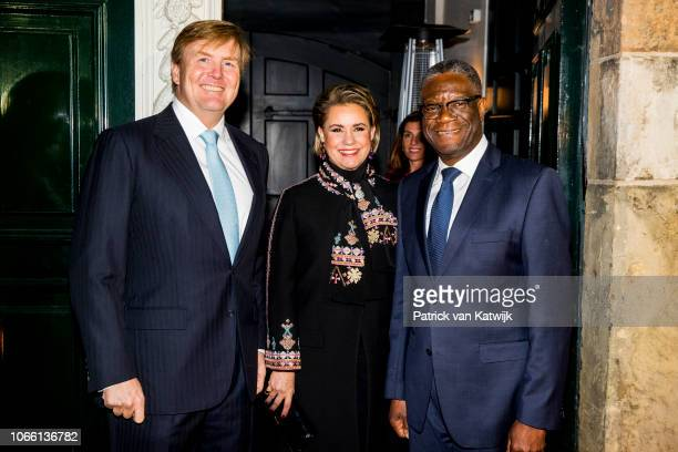 King WillemAlexander of The Netherlands Grand Duchess Maria Teresa of Luxembourg and Dr Denis Mukwege during the Dr Denis Mukwege Symposium in the...