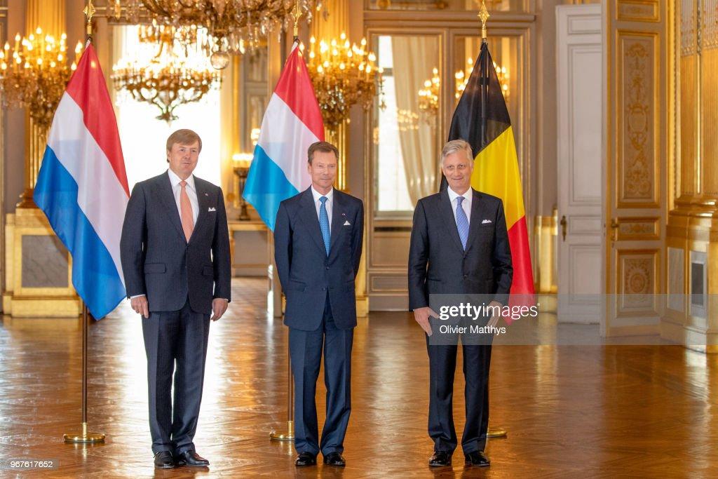 King Philip Of Belgium Attends 60 Years Benelux Council : Nieuwsfoto's