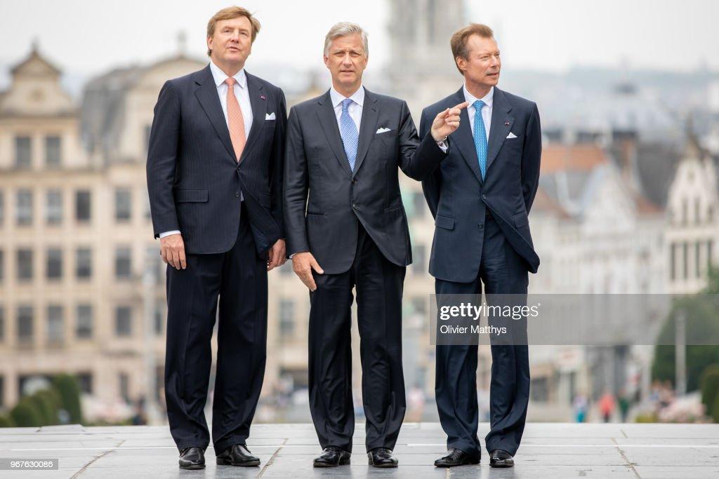 King Philip Of Belgium Attends 60 Years Benelux Council : Nachrichtenfoto
