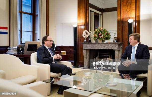 King WillemAlexander of The Netherlands meets with Dutch Minister of Social Affairs Wouter Koolmees at the Royal Palace Noordeinde in The Hague...
